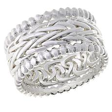 Sevilla Silver™ Textured and Polished Band Ring