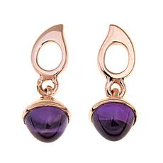 Sevilla Silver™ with Technibond® Amethyst Drop Earrings