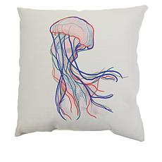 """Sewing Down South Waterlife 20"""" x 20"""" Pillow"""