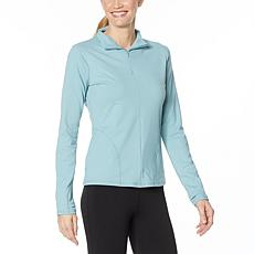 Shadow Sport Fitted Mock-Neck Zip Front Jacket