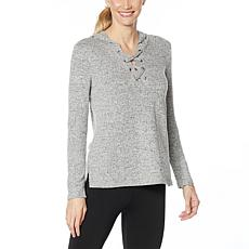 Shadow Sport Super Soft Lace-Up Hooded Top