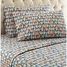 Shavel Home Micro Flannel Print Sheet Set - King