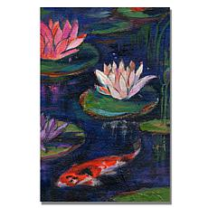 """Sheila Golden 'The Lily Pond' Giclee Print - 16"""" x 24"""""""