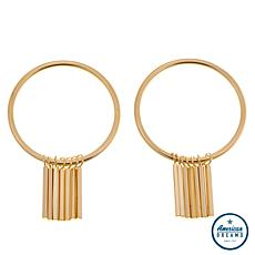 "Shelly Brown ""Naomi"" Bar Dangle Hoop Earrings"