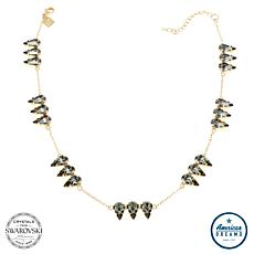 "Shelly Brown ""Triplet"" Pear Crystal Station Necklace"