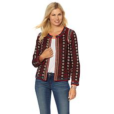 Sheryl Crow Embellished Printed Jacket