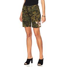 Sheryl Crow Floral Embroidered Camo Short