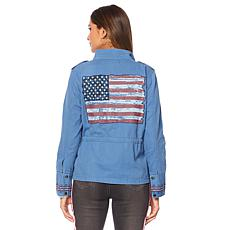 Sheryl Crow Novelty Twill Cargo Jacket