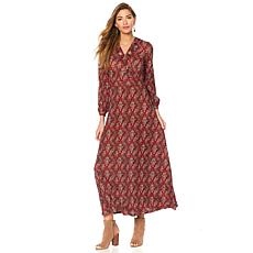 Sheryl Crow Printed Knit Maxi Dress