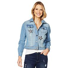 Sheryl Crow Star Embroidered Denim Jacket