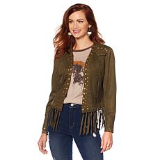 Sheryl Crow Studded Faux Suede Jacket