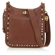 Sheryl Crow Studded Leather Crossbody Bag