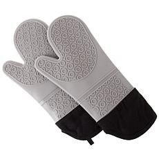 Silicone Oven Mitts ndash; Extra Long Professional Quality Heat Res...
