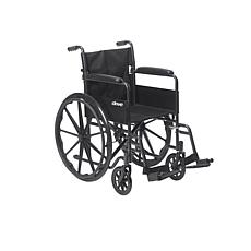 Silver Sport 1 Wheelchair w Full Arms, Swing Away Removable Footrest