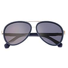Simplify Stanford Polarized Sunglasses w/ Silver Frames & Black Len...