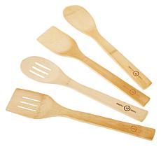Simply Ming Blue Diamond 4-piece Bamboo Kitchen Tool Set