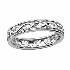 Simply Stacks™ Sterling Silver Craved Ring