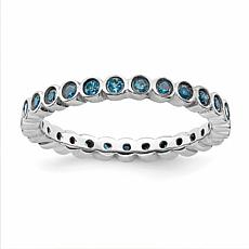 Simply Stacks™ Sterling Silver Gem Small Eternity Style Stack Ring