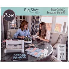 Sizzix Big Shot Plus Starter Kit (US Version) - White and Gray