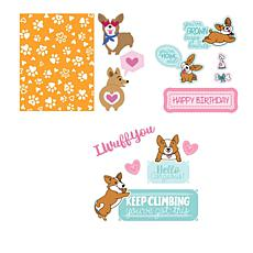 Sizzix® Corgi 35-piece Stamp and Die Bundle