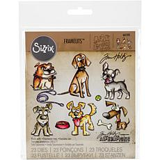 Sizzix Framelits Dies By Tim Holtz 23-pack - Crazy Dogs