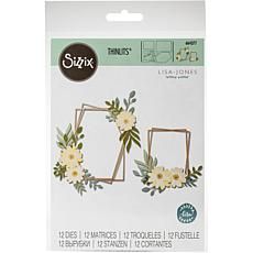 Sizzix Thinlits Dies By Lisa Jones 12-pack - Geo Floral Frame