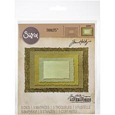 Sizzix Thinlits Dies By Tim Holtz 5-pack - Stacked Deckle