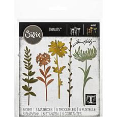 Sizzix Thinlits Dies By Tim Holtz 5-pack - Wildflower Stems #1