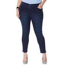 Skinnygirl All Over Stud Skinny Ankle Jean