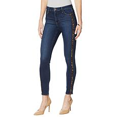 Skinnygirl Broadway High-Rise Side Stripe Skinny Jean
