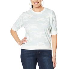 Skinnygirl Cookie Love Elbow-Sleeve Pullover Top