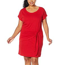 Skinnygirl Deborah Draped Side Tie T-Shirt Dress