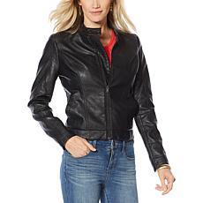 Skinnygirl Faux Leather Moto Jacket