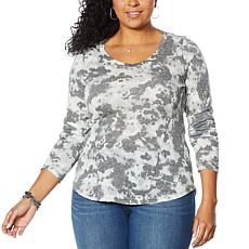 Skinnygirl Fierce Knit Long Sleeve Gauze Top