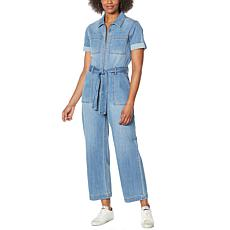 Skinnygirl Jane Denim Utility Jumpsuit