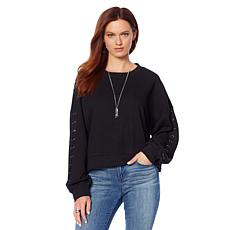 Skinnygirl Kyle Side-Zip Sweatshirt