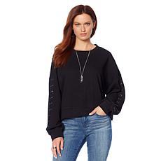 Skinnygirl Kyle Side-Zip Sweatshirt