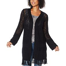 Skinnygirl Mayflower Open Weave Duster Cardigan