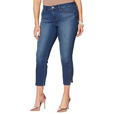 Skinnygirl Mid-Rise Skinny Cropped Zipper Jean