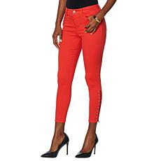 Skinnygirl The High Rise Skinny Jean with Grommet Detail
