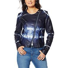 Skinnygirl Tie-Dye Moto Jacket