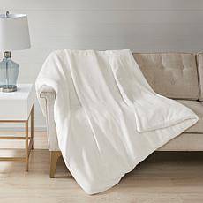 Sleep Philosophy Plush Solid Ivory 25 lb. Weighted Blanket