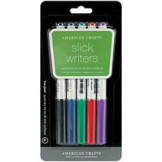 Slick Writer Marker 5-Pack -Fine Point Black, Blue, Red