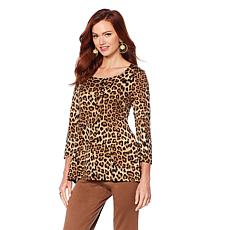 Slinky® Brand 2pk 3/4-Sleeve Print and Solid Tunics