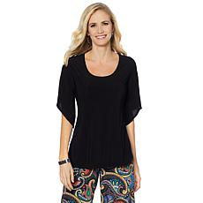 Slinky® Brand 2pk Draped-Sleeve Knit Tunics