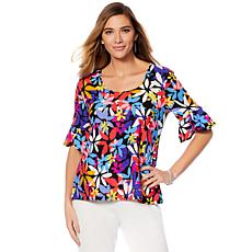 Slinky® Brand 2pk Tulip-Sleeve Tunics in Print and Solid