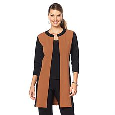 Slinky® Brand 3/4-Sleeve Colorblock Duster