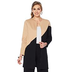 Slinky® Brand Asymmetric Colorblock Duster