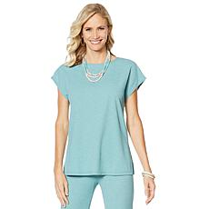 Slinky® Brand Cap-Sleeve Tunic with Side Slits
