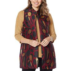 Slinky® Brand Jacquard Duster Vest with Pockets